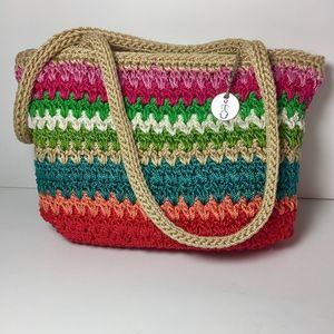 The SAK rainbow crochet small Tote